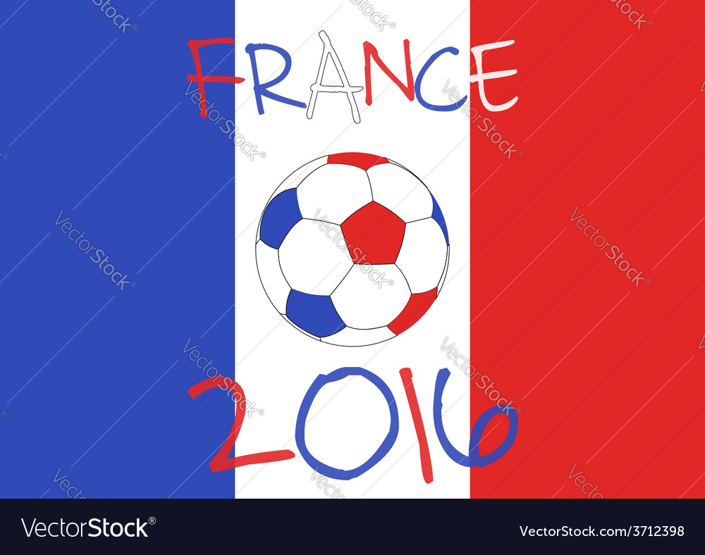 France 2016 football poster country symbol vector | Price: 1 Credit (USD $1)