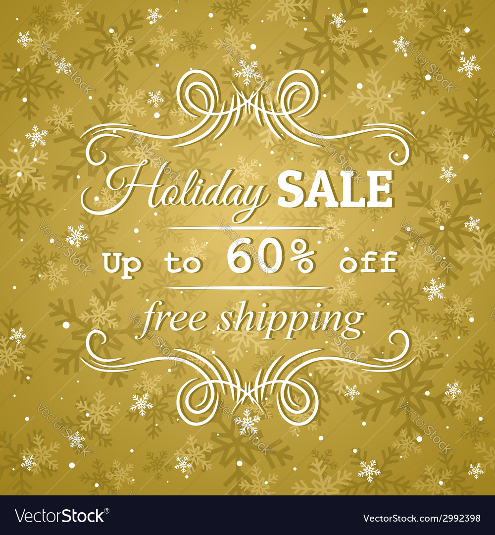 Golden background and label with sale offer vector | Price: 1 Credit (USD $1)
