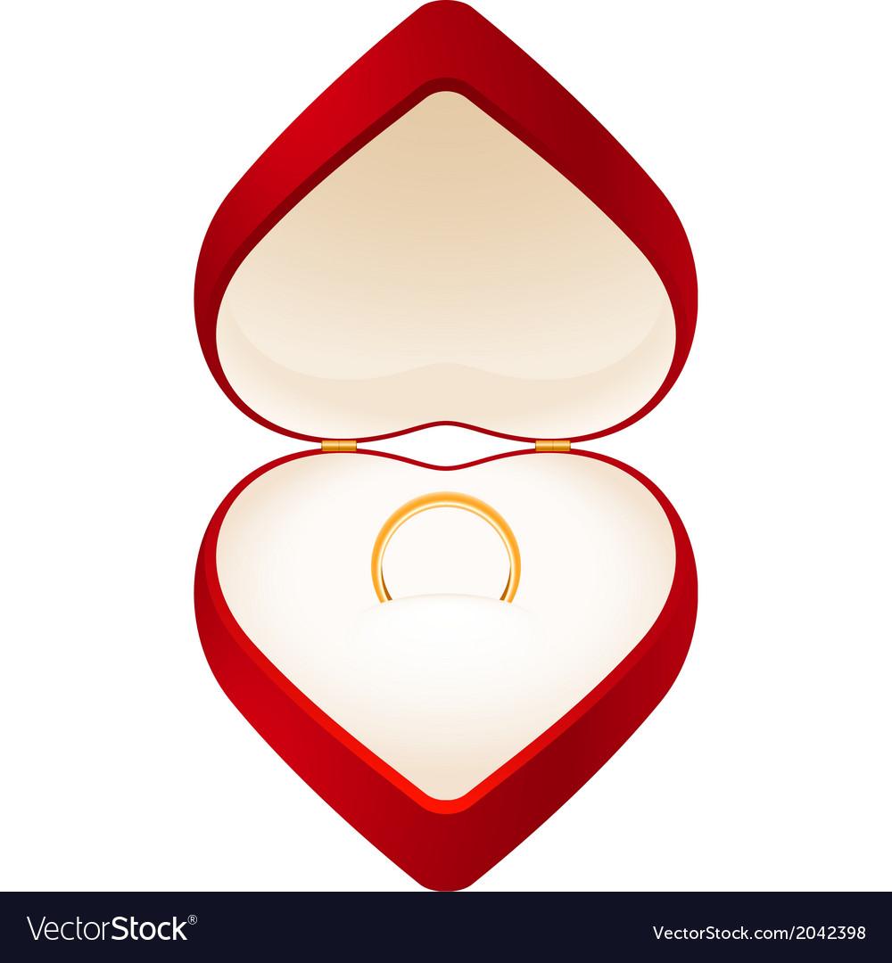 Jewelry box heart vector | Price: 1 Credit (USD $1)