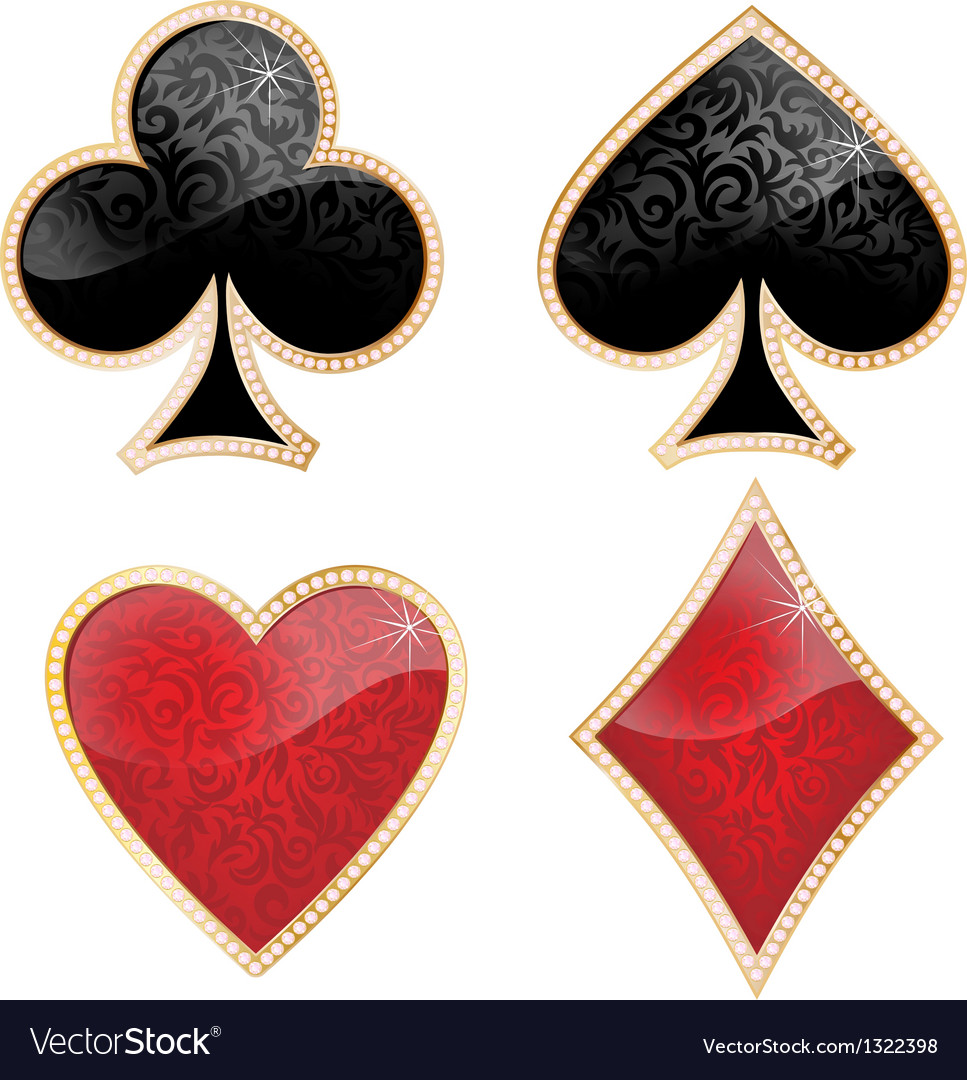 Playing card decorated with brilliants and texture vector | Price: 1 Credit (USD $1)