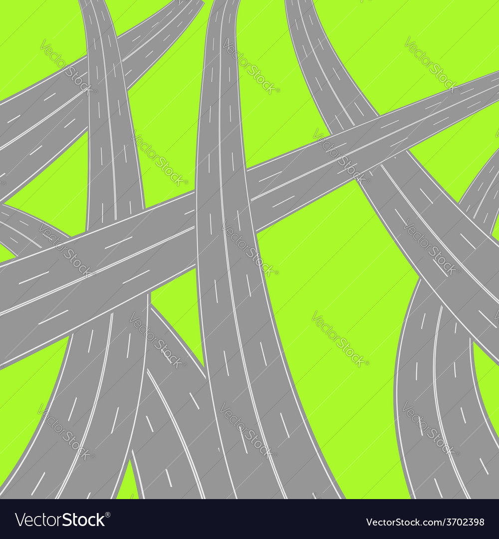 Roads vector | Price: 1 Credit (USD $1)
