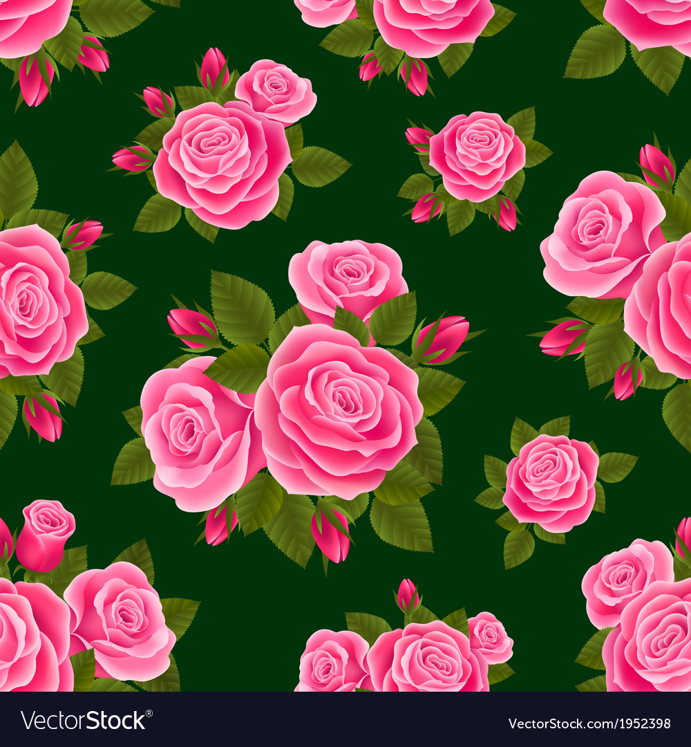 Rose seamless vector | Price: 1 Credit (USD $1)