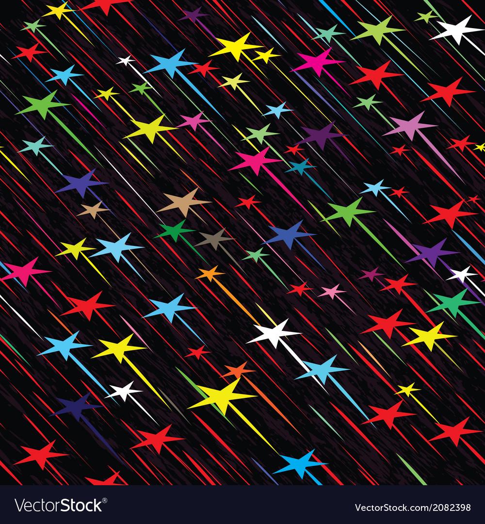 Star rain seamless background vector | Price: 1 Credit (USD $1)