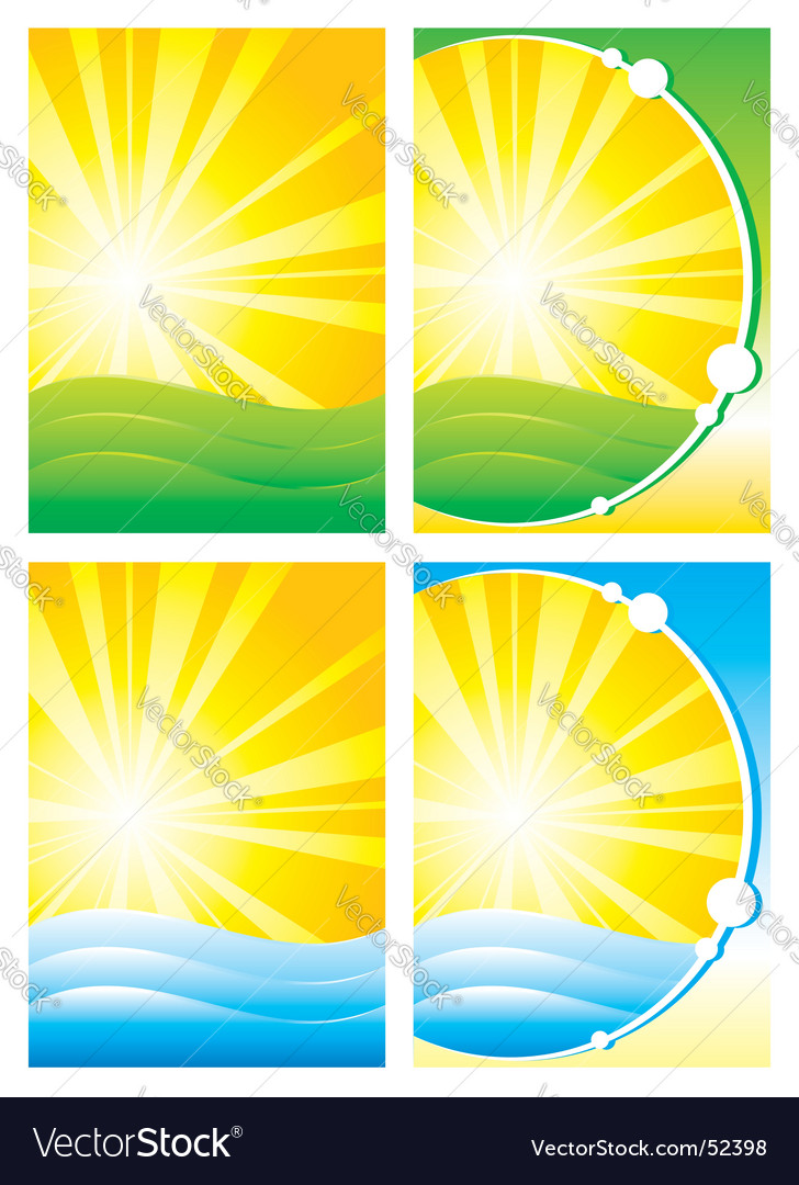 Summer backgrounds vector | Price: 1 Credit (USD $1)