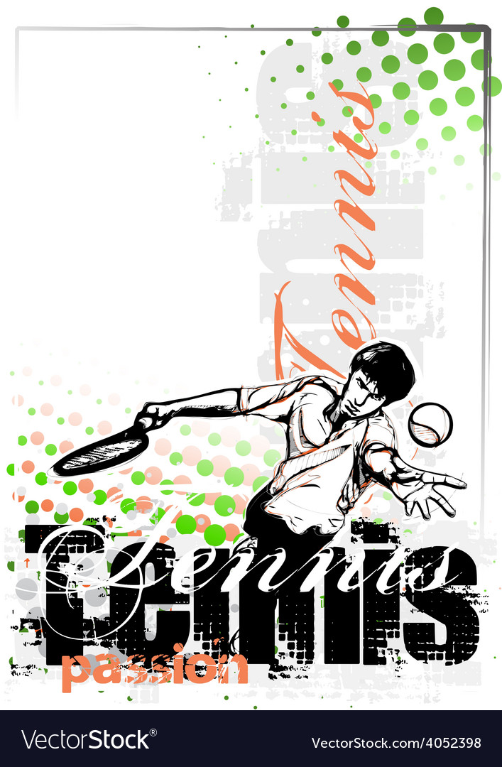 Tennis poster vector | Price: 3 Credit (USD $3)