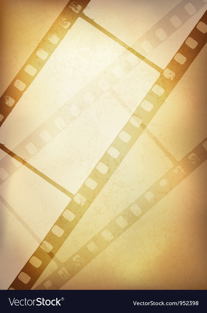 Vintage film strip vertical background vector | Price: 1 Credit (USD $1)