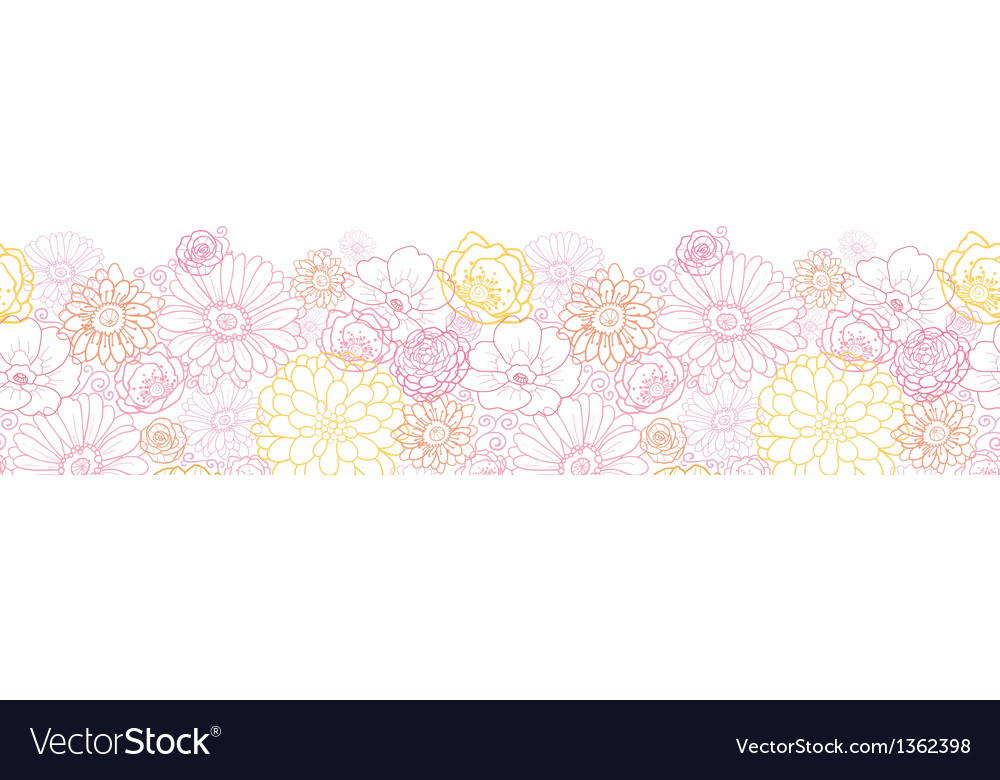 Wedding bouquet flowers horizontal seamless vector | Price: 1 Credit (USD $1)
