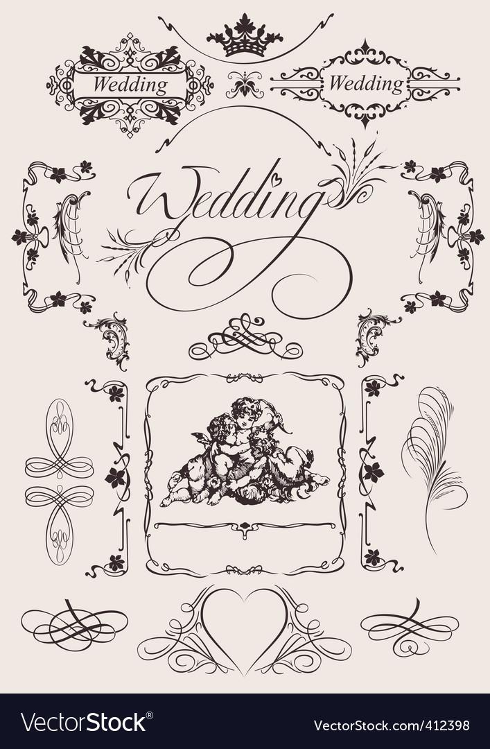 Wedding decoration vector | Price: 1 Credit (USD $1)