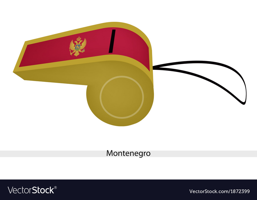A gold and red whistle of montenegro flag vector | Price: 1 Credit (USD $1)