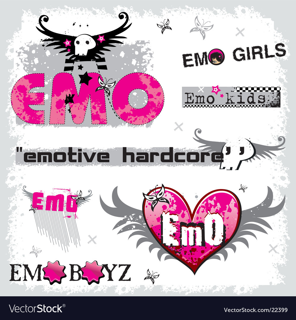 Emo logos vector | Price: 1 Credit (USD $1)