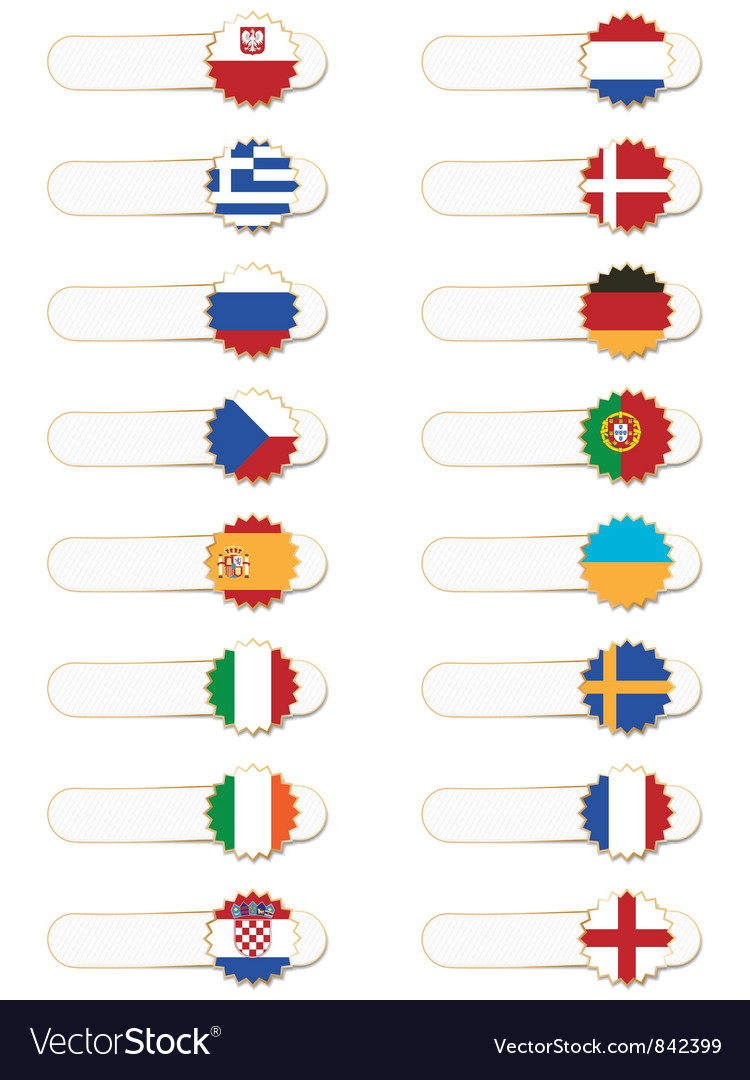 Euro 2012 flag tabs vector | Price: 1 Credit (USD $1)