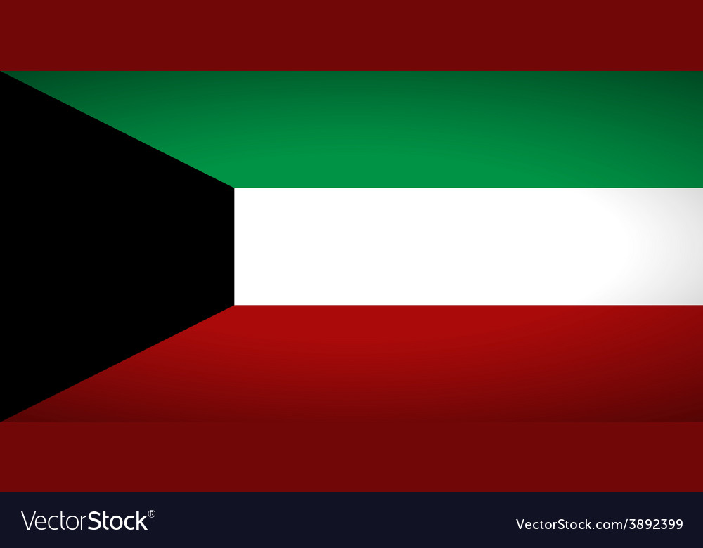 Flag of kuwait vector | Price: 1 Credit (USD $1)