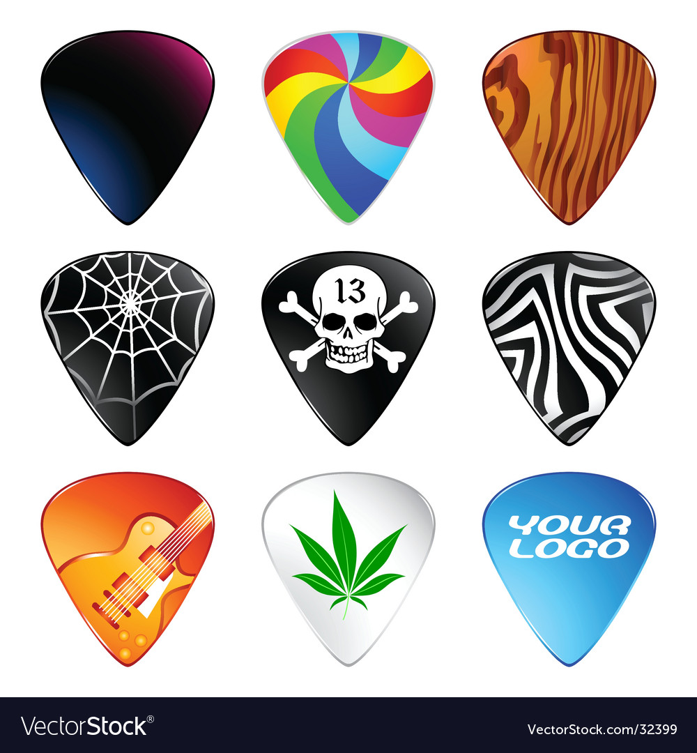 Guitar picks vector | Price: 1 Credit (USD $1)