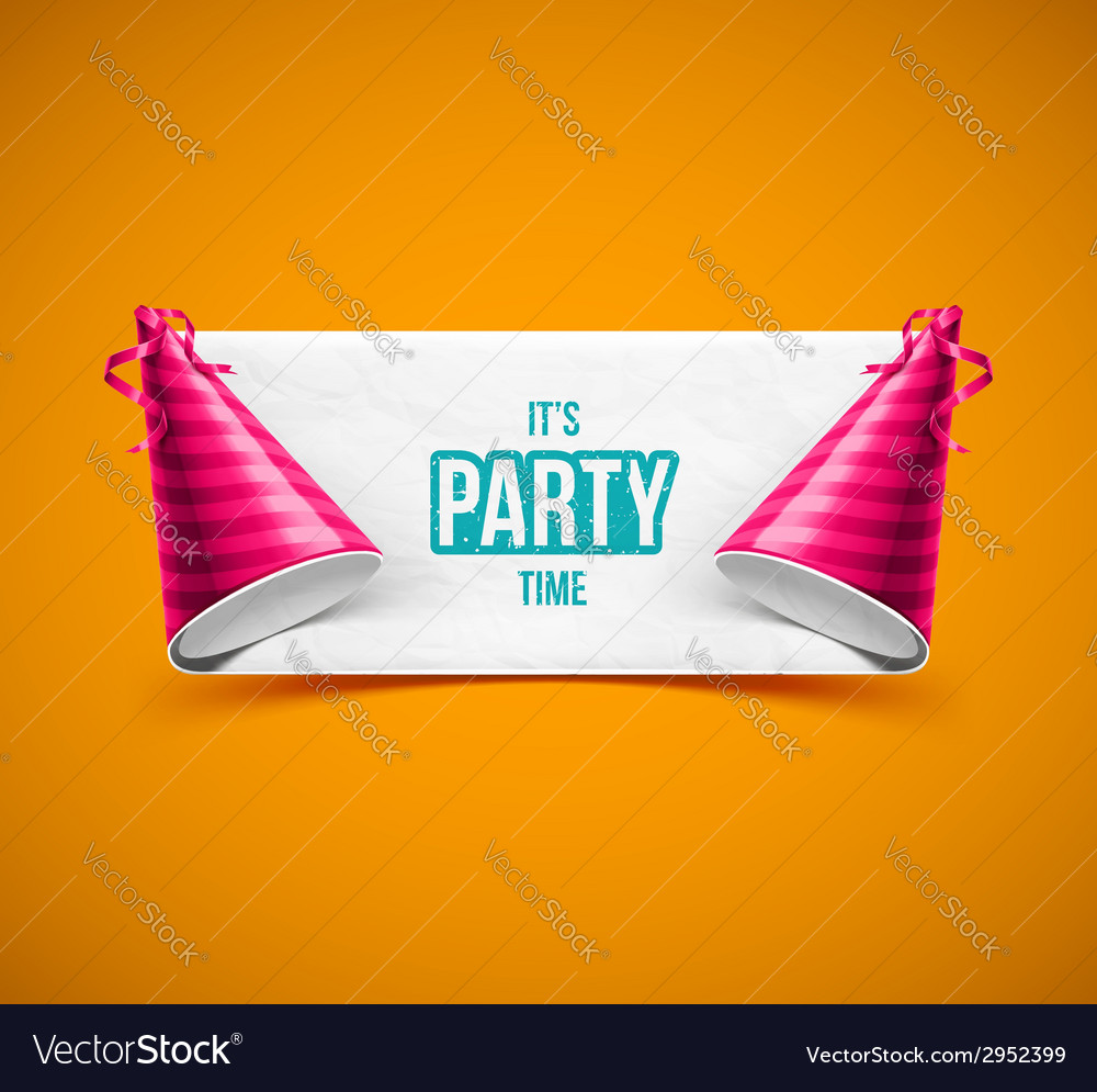 Its party time vector | Price: 1 Credit (USD $1)