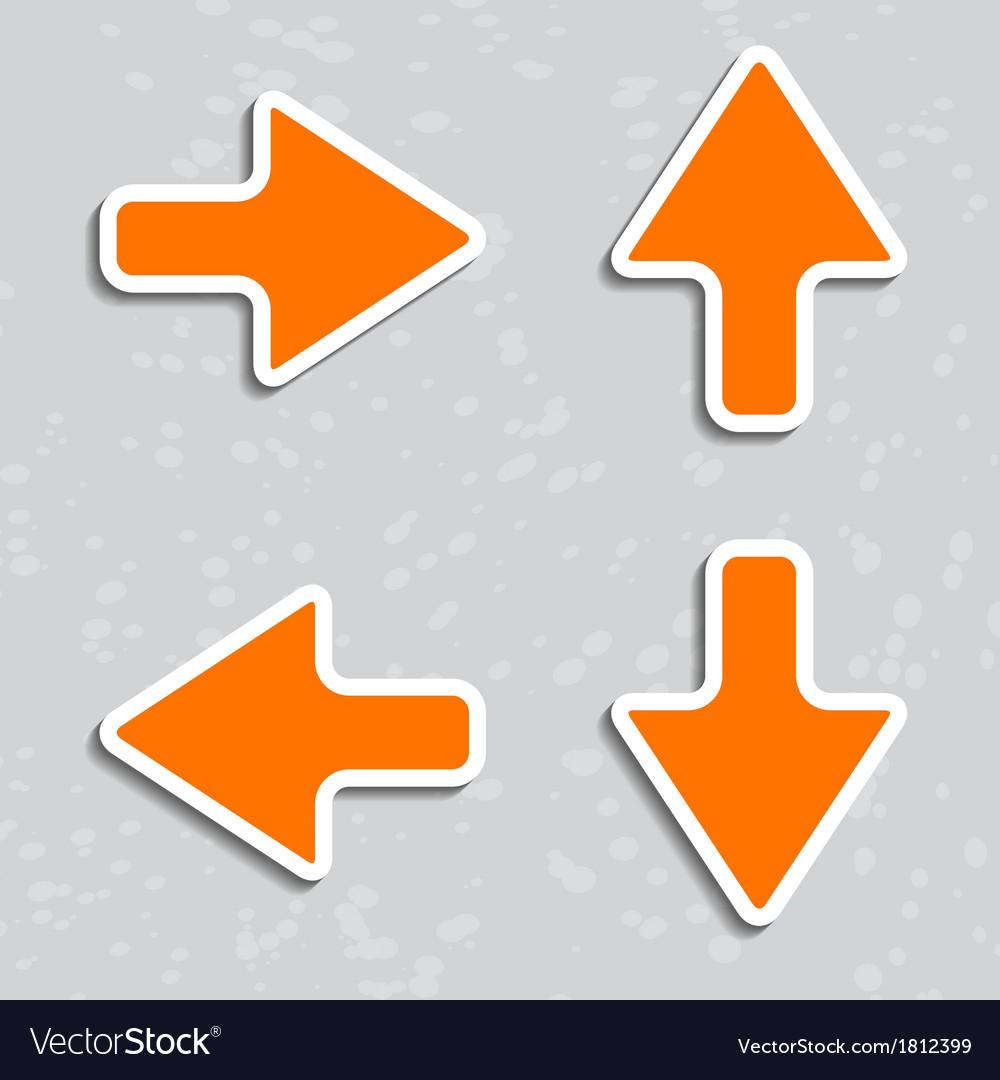 Paper arrows with shadows vector | Price: 1 Credit (USD $1)