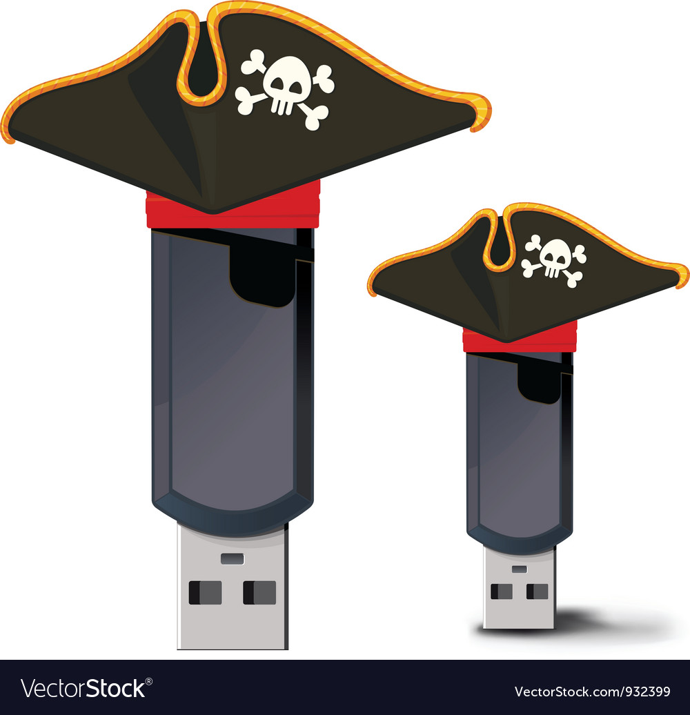 Pirate usb flash drive vector | Price: 3 Credit (USD $3)