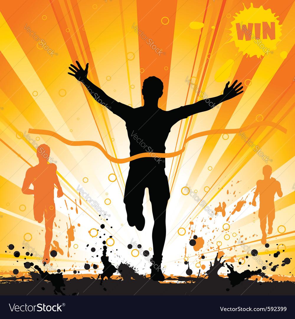 Silhouette runner vector | Price: 1 Credit (USD $1)