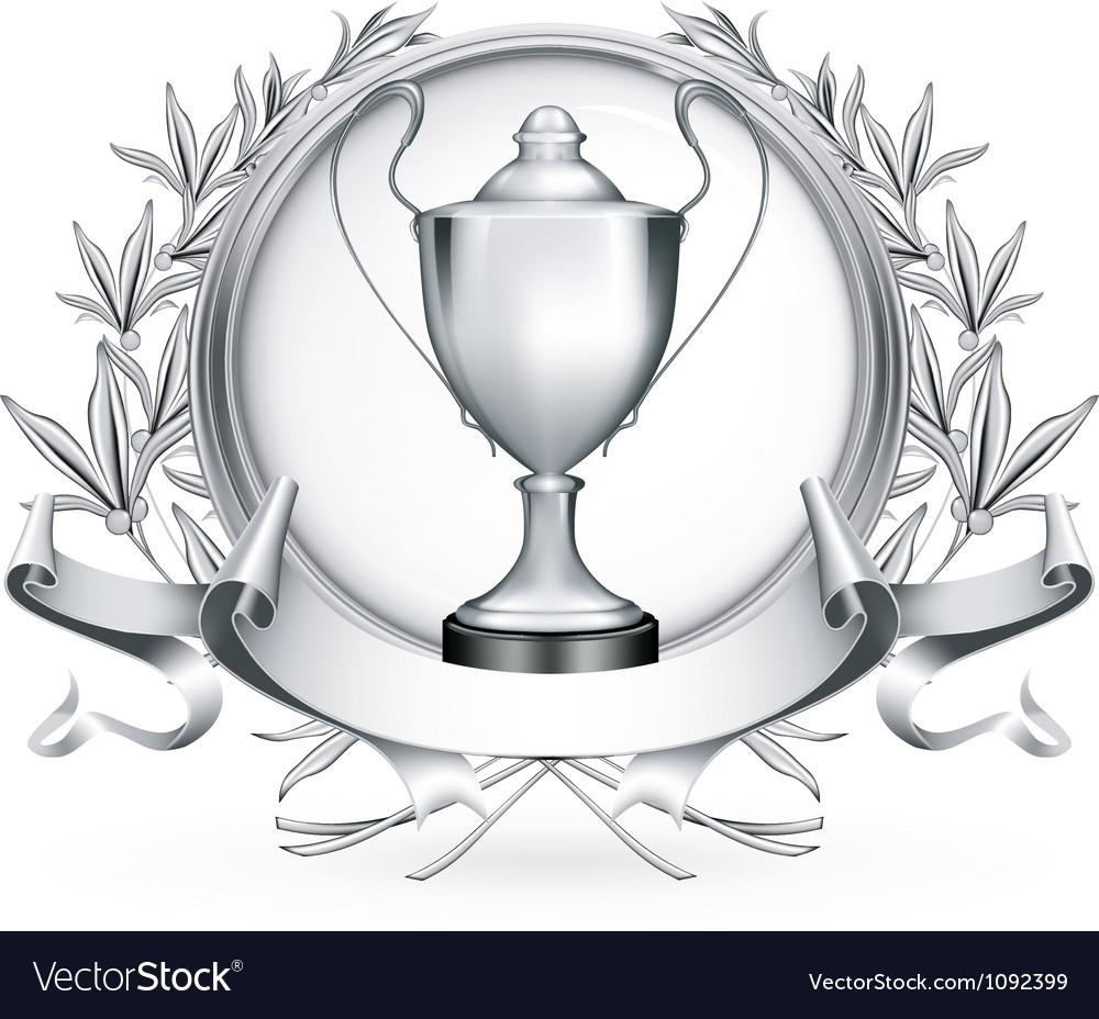 Silver emblem vector | Price: 1 Credit (USD $1)