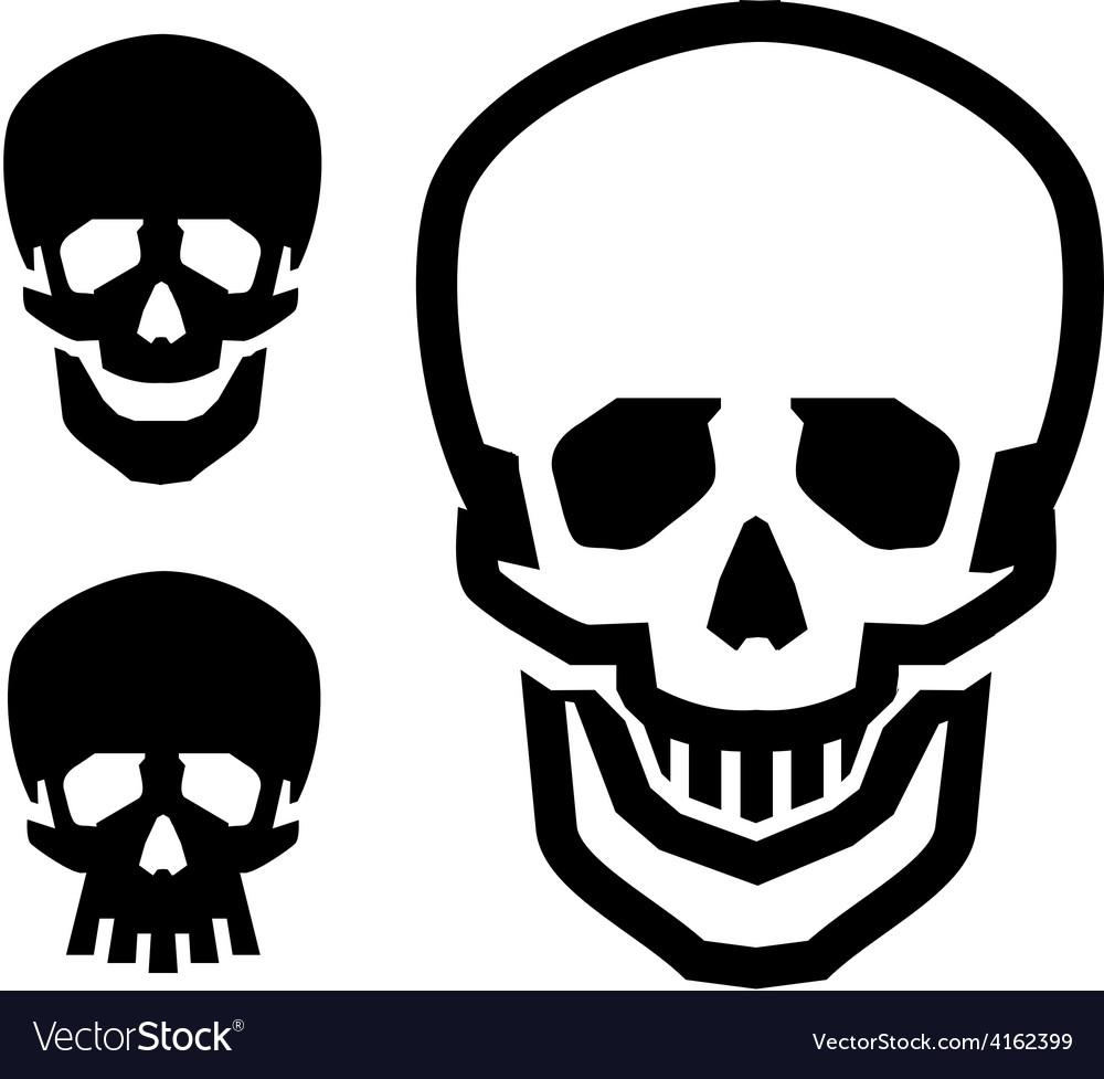 Skull logo design template pirate or vector | Price: 1 Credit (USD $1)