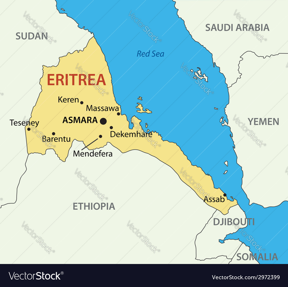 State of eritrea - map vector | Price: 1 Credit (USD $1)