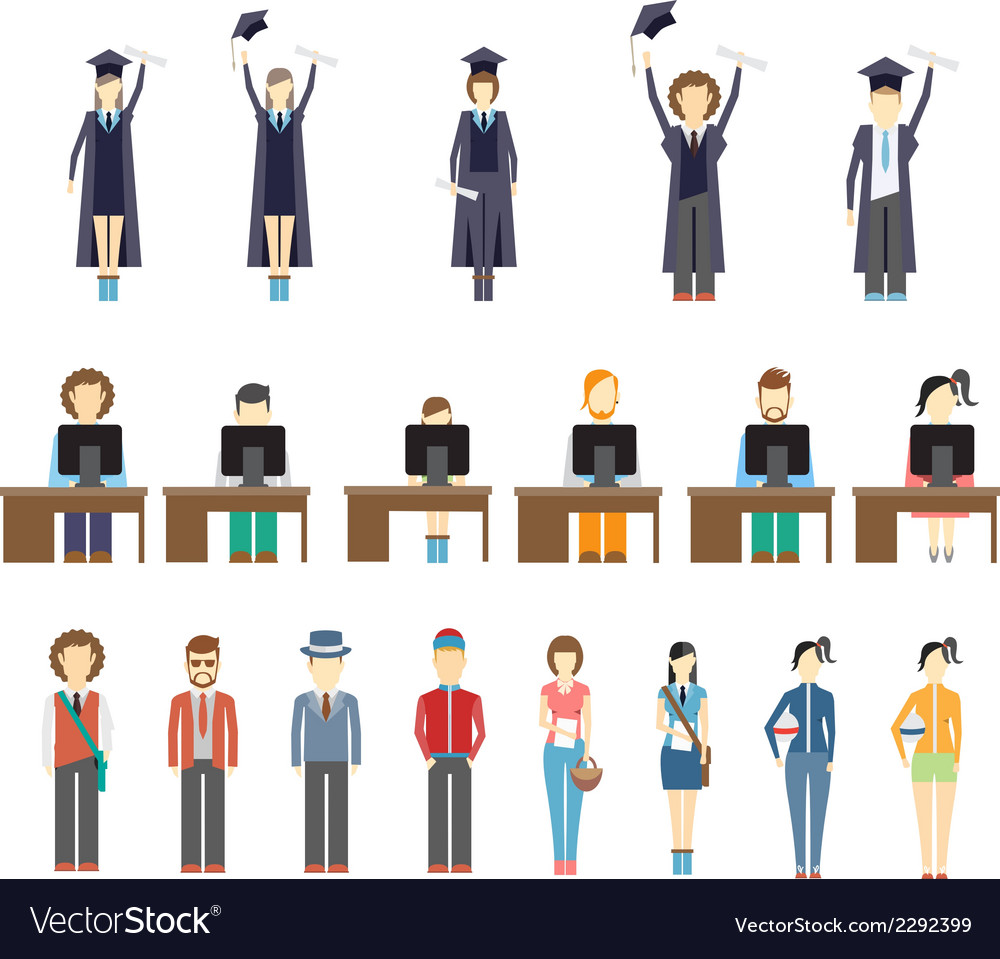 Young people and students vector | Price: 1 Credit (USD $1)
