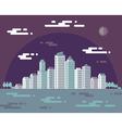 Night cityscape - flat vector