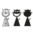 Cheshire cat three shapes vector