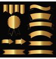 Gold contour icons vector