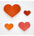 Hearts isolated on grey background vector