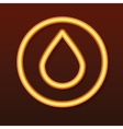 Glowing golden icon drop in a circle vector