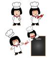 Little cook actions vector