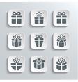 Gift box web icons set holiday presents vector