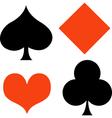 Poker card suites vector