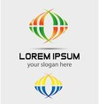 Colorful business logo vector