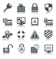 Security icons set black vector