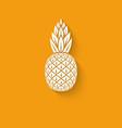 Pineapple tropical fruit symbol vector