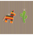 Mexican decorations vector