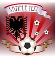 Football poster with albanian flag vector