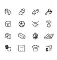 Soccer black icon set on white background vector