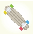 Retro skateboard isolated vector