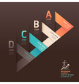 Modern arrow step options origami style vector
