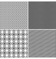 Four seamless ornamental greed patterns vector