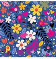 Flowers and birds pattern 4 vector