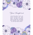 Floral watercolor border vector