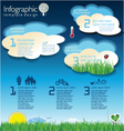 Modern ecology blue infographic design vector