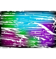 Colorful background with grungy texture overlay on vector