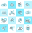 Database analytics icons flat vector