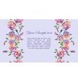 Floral watercolor border vector