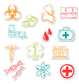 Colored medical stickers vector