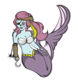 Pirate zombie mermaid vector